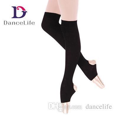 Ballet Tights K2831 Hand Knit Leg Warmers With Stirrups Dance Leg