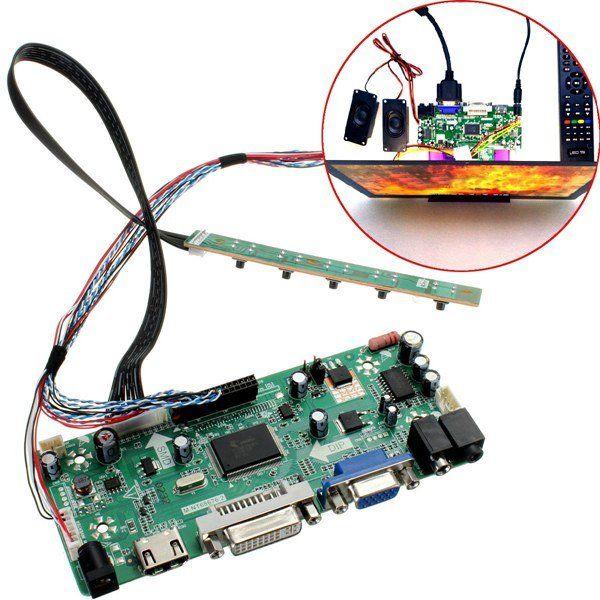 Wholesale- LCD Controller Board HDMI DVI VGA Audio PC Module Kit For 15 6  Inch Display B156XW02 1366X768 lcd panel Free Shipping