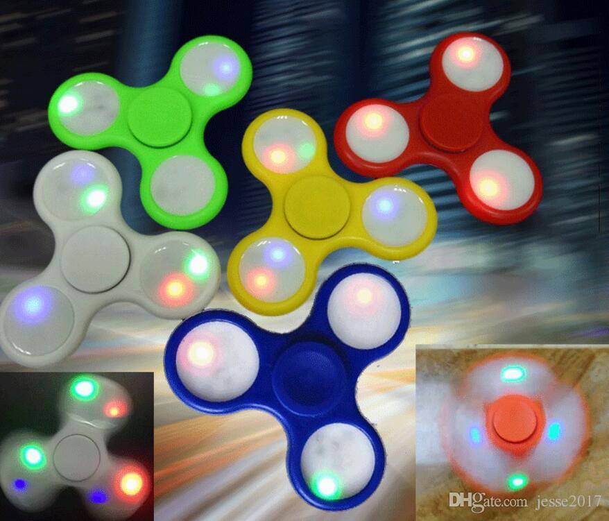 Best 2017 led light up hand spinners fidget spinner top for Light up fishing spinners