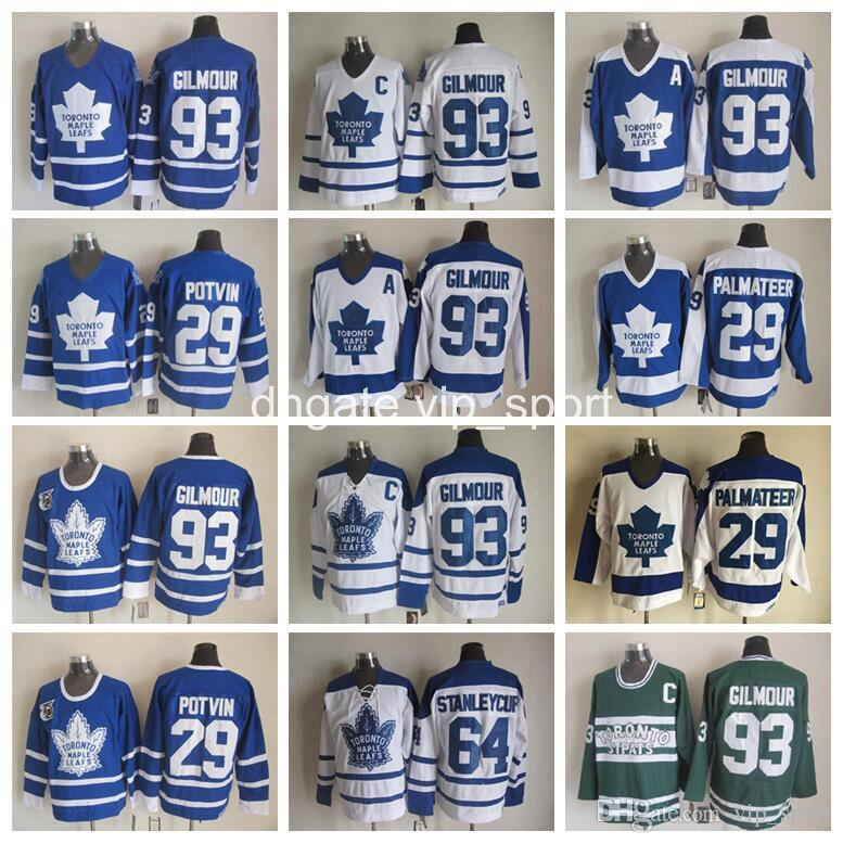 2019 29 Mike Palmateer Jersey Men 93 Doug Gilmour 64 Stanleycup 29 Felix  Potvin Vintage Toronto Maple Leafs Hockey Jerseys Blue White From  Vip sport 0638708d37a
