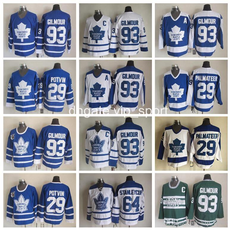 1b917a7c8 nhl jerseys toronto maple leafs 29 felix potvin throwback blue jerseys