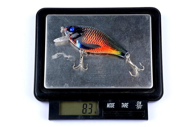 Parlak Renk PS Boyalı Lazer Krank yem Rattlin cazibesi 6.5 cm 8.3g Tatlısu Balıkçılık bok simülasyon Balık kanca