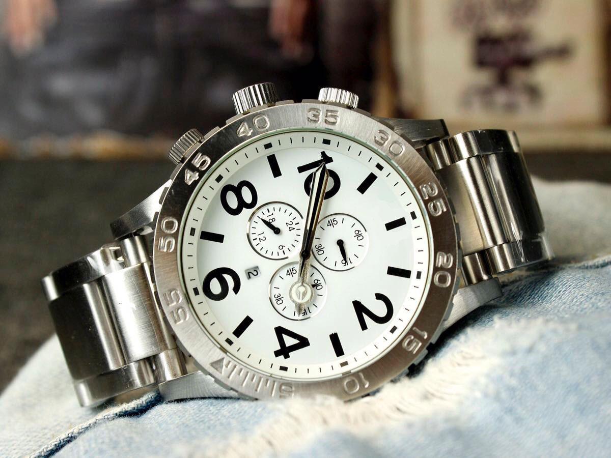 Grande taille plein en acier inoxydable Argent Or rose montres hommes quartz chronographe homme montres de mode horloge hommes beau cadeau montre pour hommes