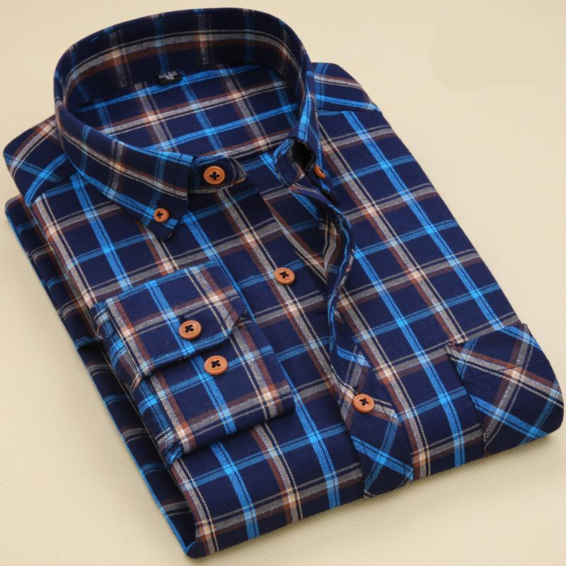 38937ea8497eae 2019 2017 Latest Shirt Designs 100% Cotton Long Sleeve Plaid Shirt Mens  Regular Style Casual Shirts For Men From Alicewen0818, $9.95   DHgate.Com
