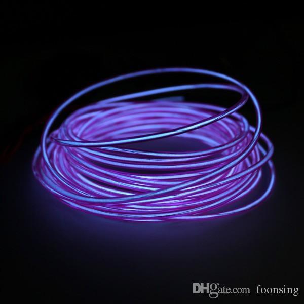 Party El Wire Clothes Purple Color 1mm Diameter El Wire In 50m ...