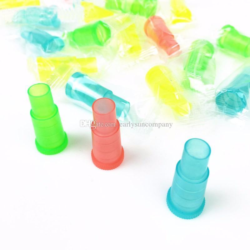 /bag Colorful Disposable Plasitc Shisha Mouthpiece Hookah/Water Pipe/Sheesha/Chicha/Narguile Hose Mouth Tip
