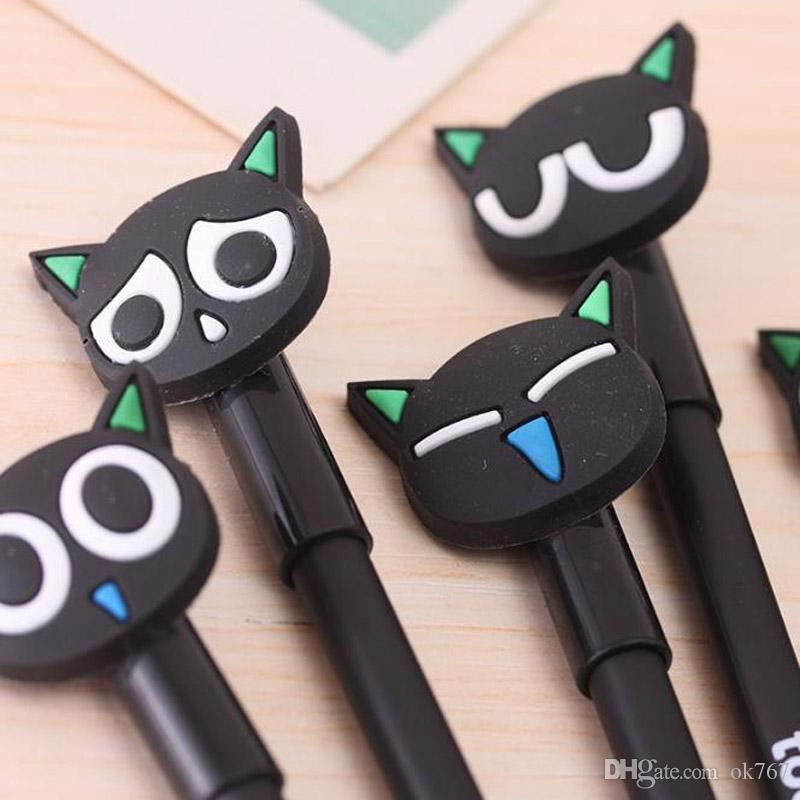 Wholesale-/ kawaii stylo matériau Escolar Papelaria chat gel stylo de papeterie mignonne papeterie bureau de bureau de bureau caneta gen stylos pour écrire