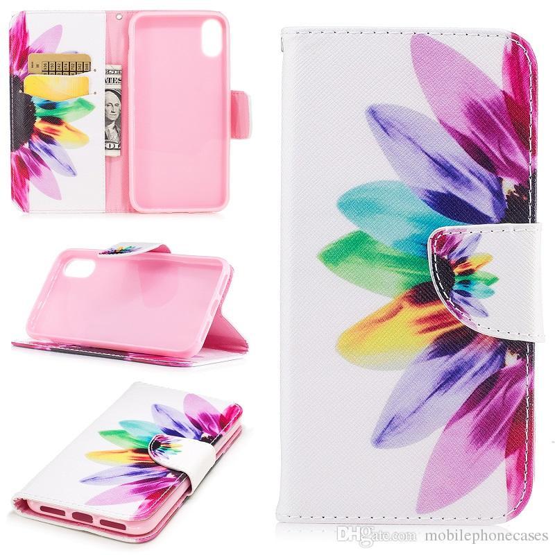 Magnetic BookCover For Apple iphoneX iphone8 3D cute cartoon Flip Wallet case for iphoneX 8Plus cover