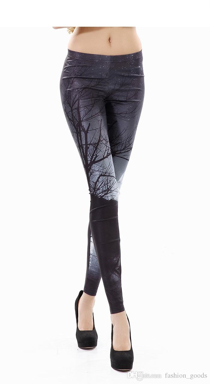 High-end digital print design Leggings trousers pants fashion ladies LW004 Women's Leggings