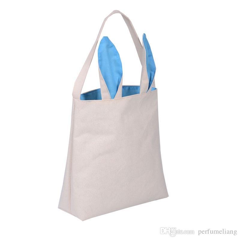 New Fashion design Easter Bunny Ears Gift Bag Jute Cloth Gift Bags Easter Celebration Hand Bags WA1961