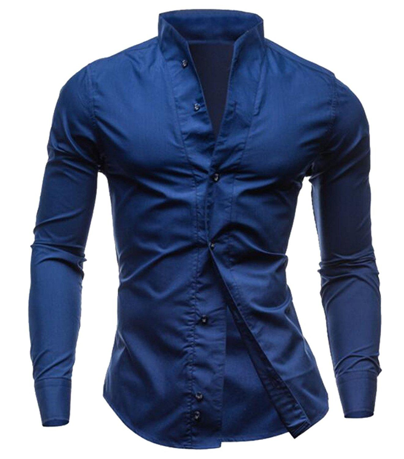 96a42040460 Wholesale- Generic Mens Long Sleeve Button Front Shirts Clearance Slim Fit  Tee Slim Fit front Shirt Men Long Online with  39.74 Piece on Yabsera s  Store ...