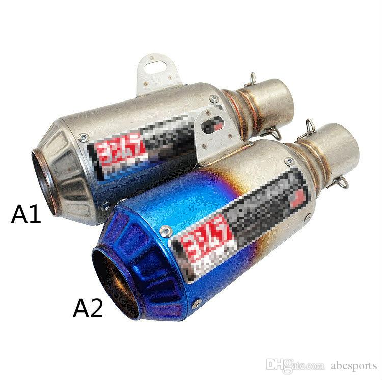 Universal 51mm yoshimura motorcycle muffler exhaust Double Slash Cut escapamento de moto larger displacement motocycle