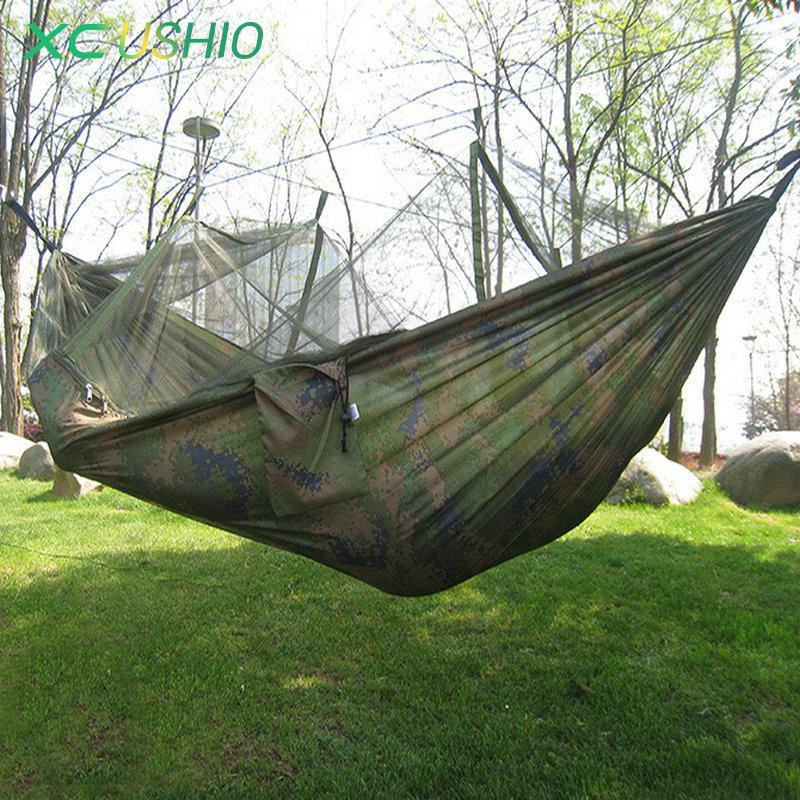 wholesale 230 120cm sleeping hammock portable camouflage high strength parachute nylon camping mosquito hammock with mosquito  s cheap camping supplies     wholesale 230 120cm sleeping hammock portable camouflage high      rh   dhgate