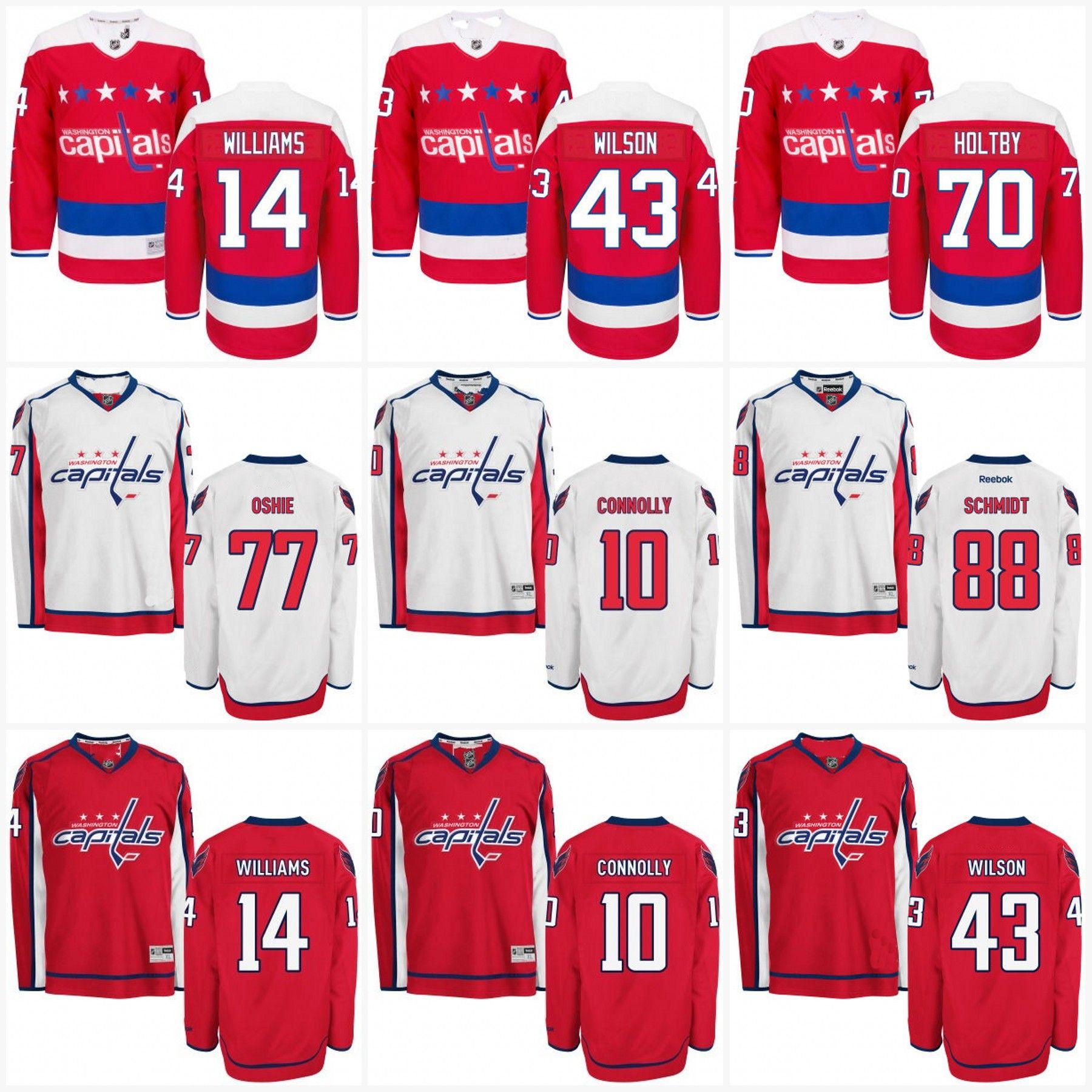 ... Authentic White Third NHL Jersey - T.J. Oshie See larger image 2017 Mens  Washington Capitals Jerseys 8 Alex Ovechkin 77 Tj Oshie Andre Burakovsky 43  Tom ... dada36cb9