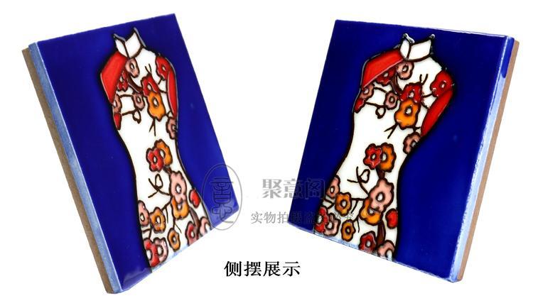 Il muro Cina vento dipinto a mano creativo ceramica cheongsam ornamenti regalo pacchetto di posta inviare gli stranieri all'estero in Affari esteri
