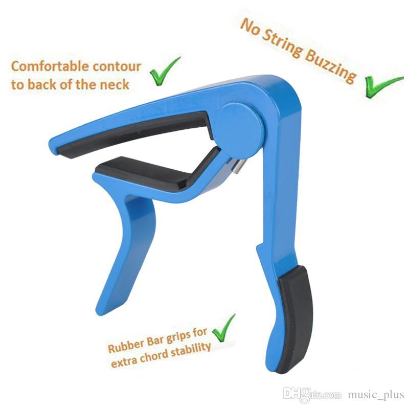 Guitar Capo Quick Change Acoustic Guitar Accessories Trigger Capo Key Clamp Blue -Aluminum