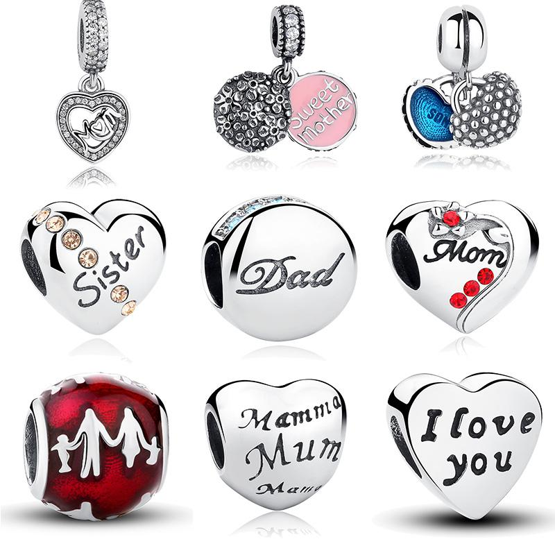pandora mum and dad charm