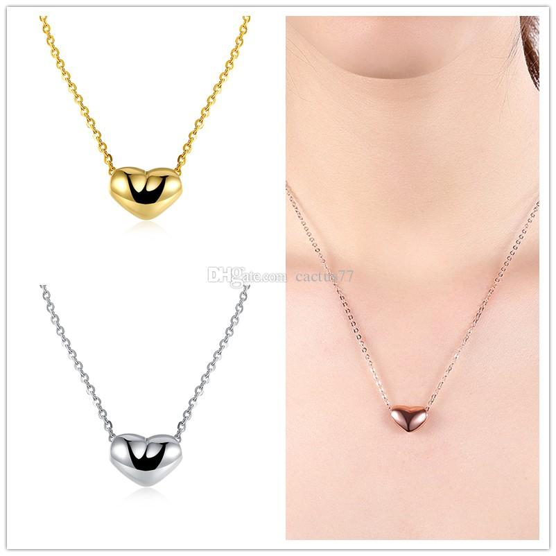 Fashion 18K KC Gold Plated Water Drop Crystal Glass Pendants Charm Necklace
