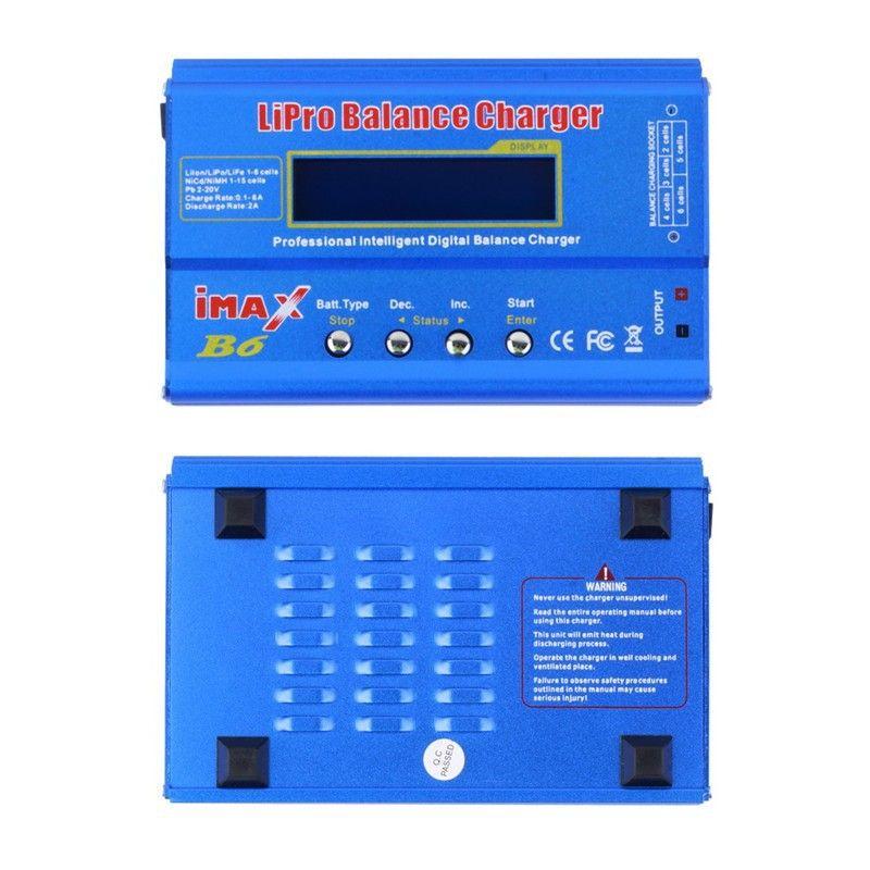 IMAX B6 80W Multi-function 1-6 Cells XT60 LiPo Battery Digital Balance Charger