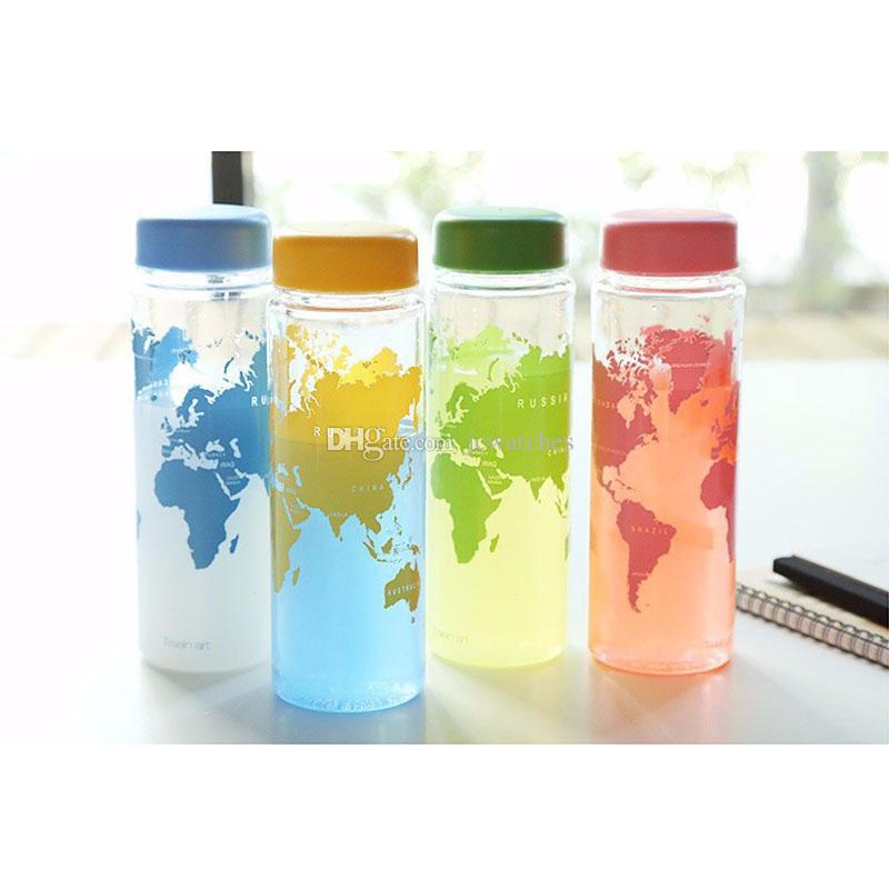 cute water bottles portable plastic cup with pouch bag package my water 12196