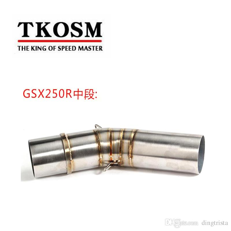 Susuzsuz SUZUKI GSX250R için TKOSM Egzoz Orta Boru Sistemi