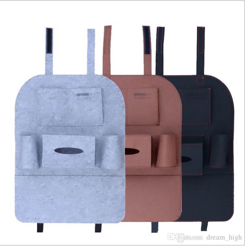 Otomobil Koltuk Saklama Çantası Oto Araba Keçe Kapakları Arka Koltuk Organizatör Yalıtım Çok Yönlü Çok Tutucu Cep Depolama Konteyner Çanta