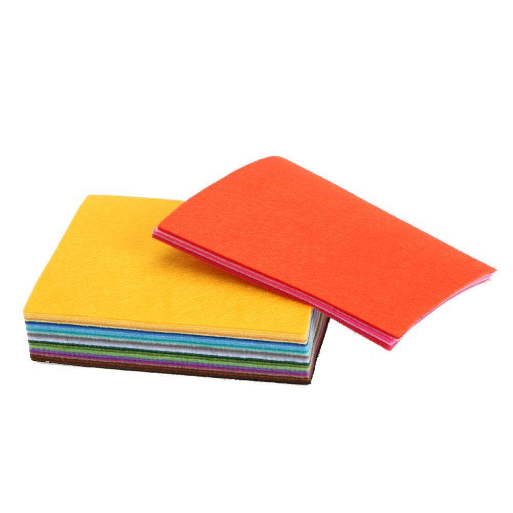 40 colori / lotto 15CMX15CM Feltro Tessuto Poliestere Non tessuto Feltro 1 MM Tessuto Spesso FAI DA TE Feltro Artigianato Panno Feutrine Fieltro Feltro