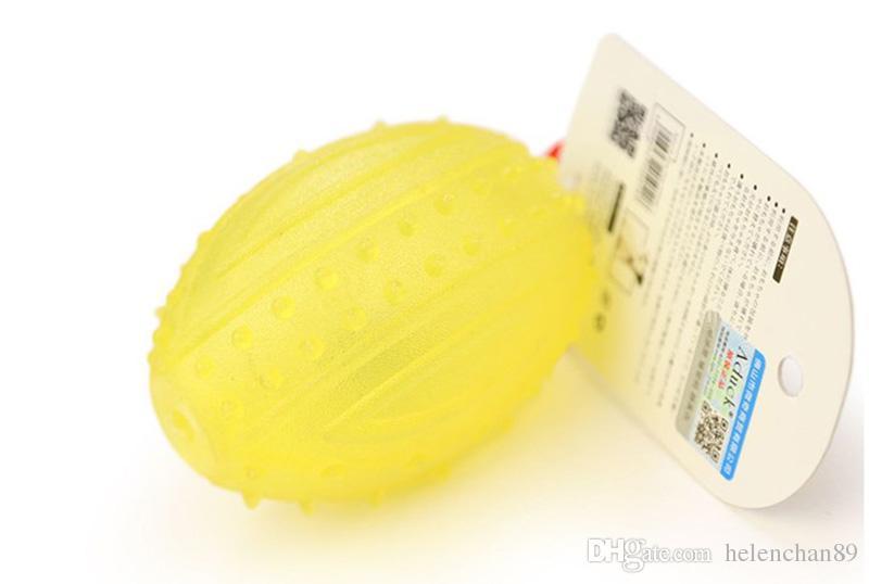 Suave de alta calidad de goma TPR LED Flash Pet Dog Cat Grind Dientes de juguete No tóxico Pet Training Chew Toys Dogs Glowing Supplies