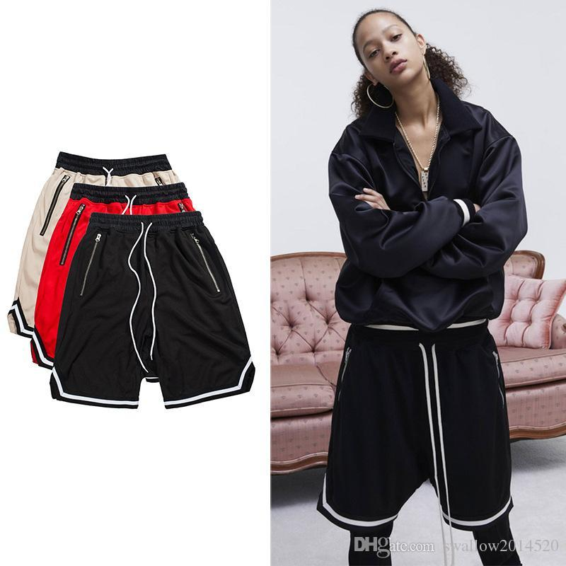 ded2bf7b26 2019 New Workout Men Short Beach Jumpsuit Harem Bieber FOG Spandex Mens  Clothing FOG Black Mesh Drop Crotch Summer Basketball Shorts From  Swallow2014520, ...