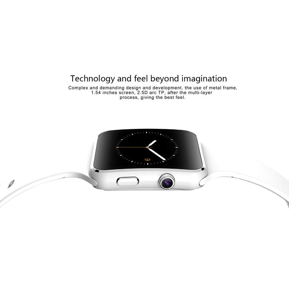 Curved Screen X6 Smartwatch Smart Watch Bracelet Phone With SIM TF Card Slot With Camera For LG Samsung Sony All Android Mobile Phone