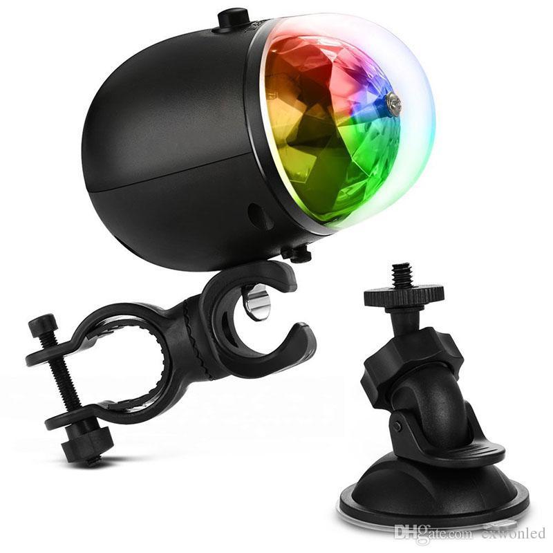 USB recargable a prueba de agua etapa láser luz roja Bule verde giratoria lámpara de bola de cristal para exterior KTV Club Party boda vacaciones
