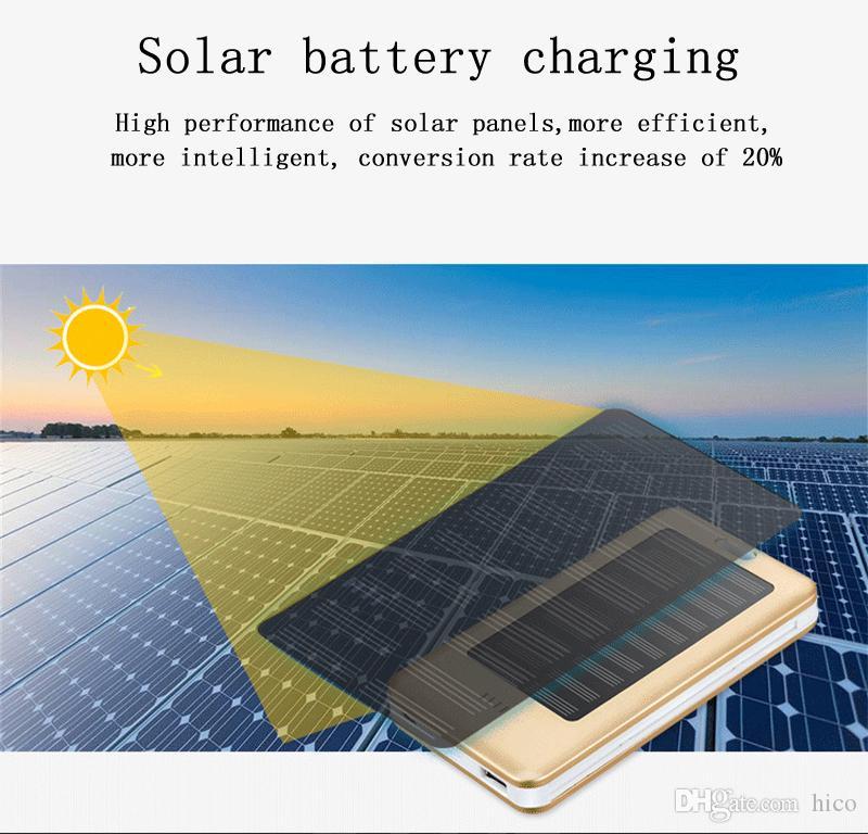 Alta qualidade 10000 mAh Carregador Solar e Bateria de Energia Solar Painel portátil Carregamento tesouro De Alumínio Shell com Lanterna à prova d 'água