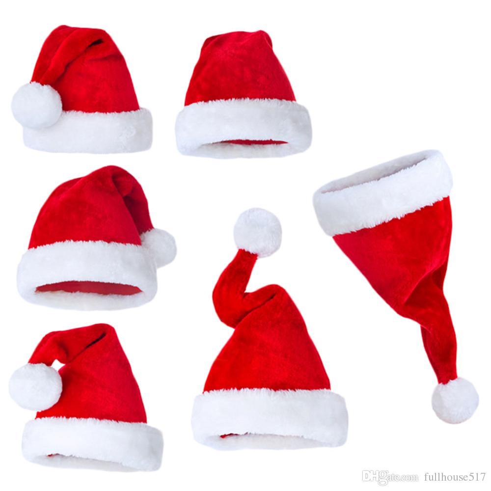 Cappello natalizio Cappello natalizio Cappello natalizio rosso Cappello natalizio in peluche il costume di Natale