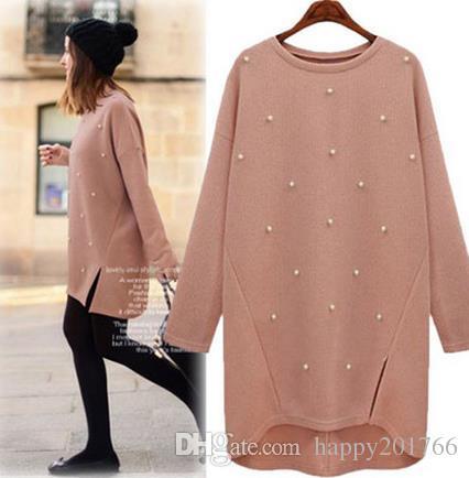 2019 Beading Women Long Sweaters Gilet Femme Manche Longue