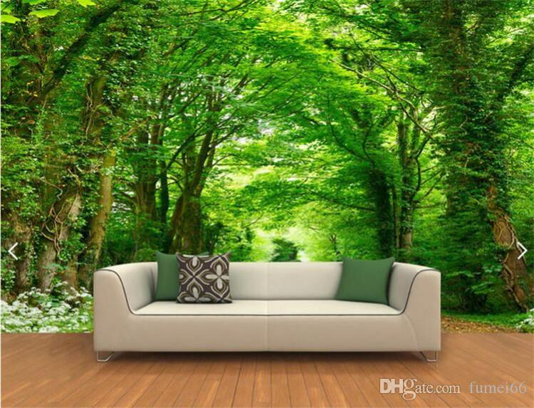 3d Photo Wall Mural Green Tree Nature Landscape Wall Papers Custom Mural  Wallpaper For Bedroom Home Decor Living Room Spiderman Wallpaper Sports  Wallpaper ... Part 82