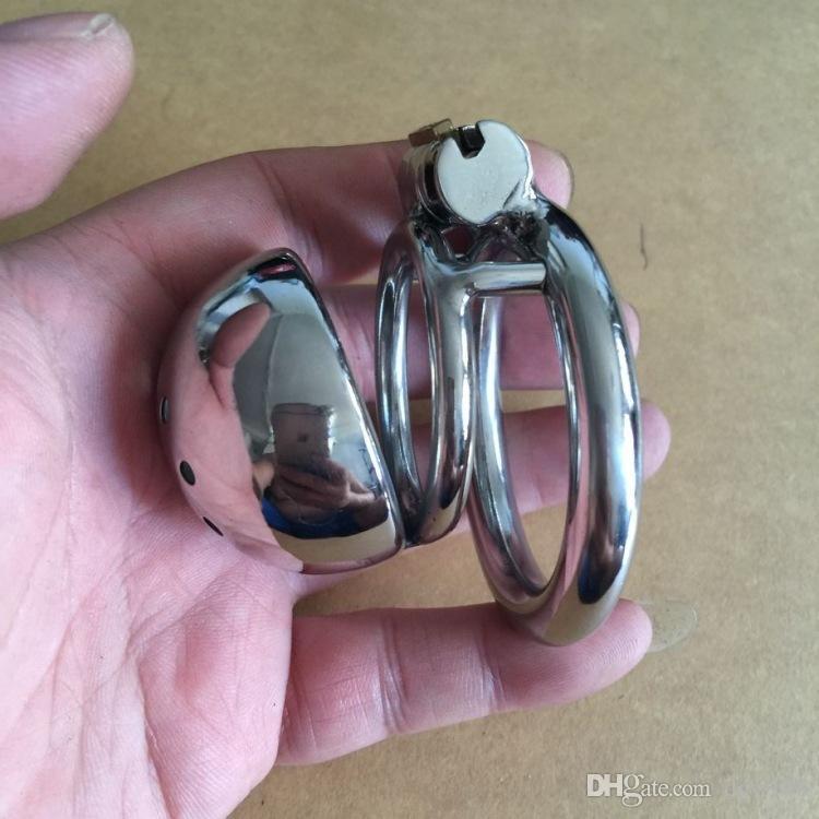 Neueste Design Edelstahl Männlichen Boundage Keuschheit Kürzesten Käfig Harnröhrenkatheter GAY BDSM Fetisch S028