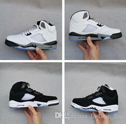 Wholesale 2017 retro v 5s oreo white cement men basketball shoes 22 sciox Images