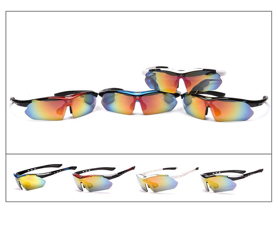Mode Sonnenbrillen Zyklus Brillen Gläser Outdoor Fahrrad Radfahren Sonnenbrille Mountainbike Ciclismo oculos de Sol Für Männer Frauen 5 Linsen
