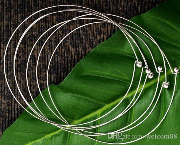Silver Plated Chokers Necklace Cord Wire For DIY Craft Jewelry Gift 16inch W22*