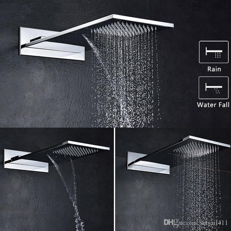 Charmant 2019 Rainfall Waterfall Showers 304 Stainless Steel Shower Head Polished  Shower Heads Place Of Origin Jiangmen Guangdong From Setsail411, $323.62 |  DHgate.