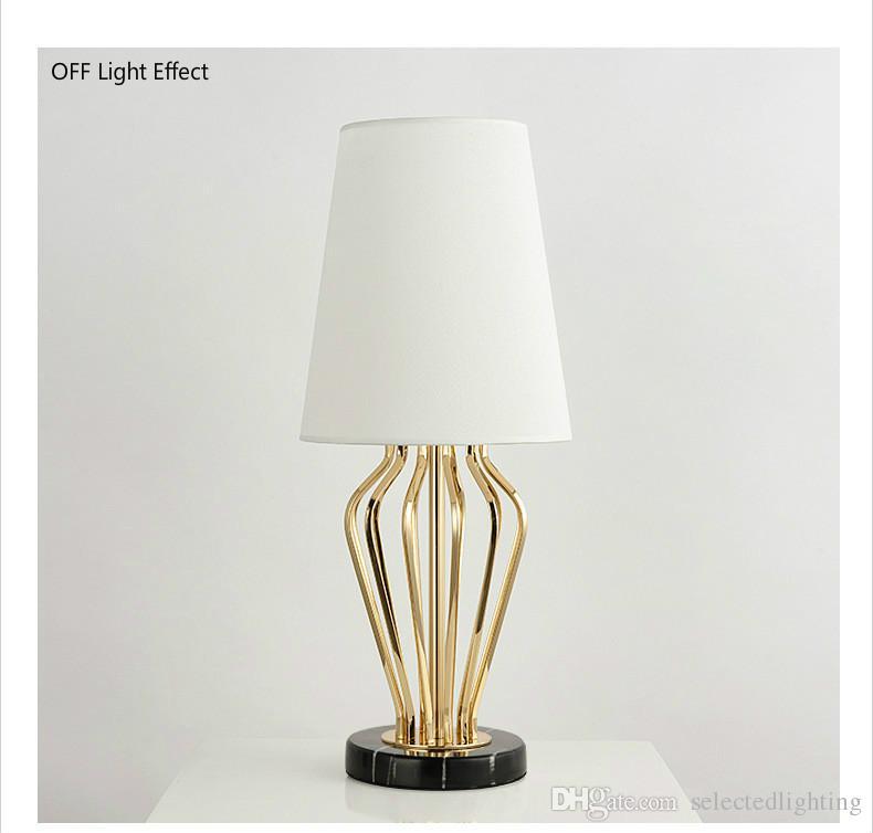 Moderne Tischlampe Mable Base Tischleuchten Schreibtisch Nachtlicht E27 Halter Stoff Lampenschirm Luxus Nachttischlampe für Zuhause Schlafzimmer Dekor