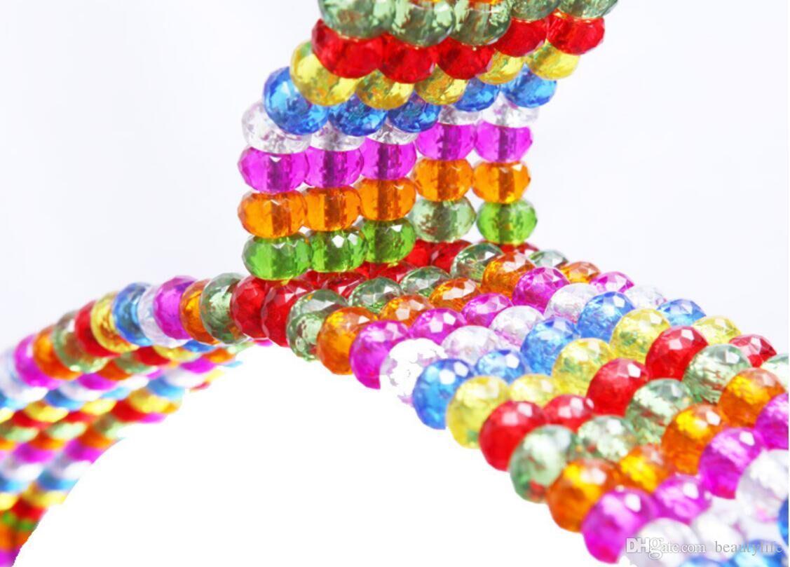 الأرجواني أكريليك شماعات تبكي النمط الصيني السراويل كليب الزفاف شماعات الملونة الكريستال الكرة الملابس متجر شماعات