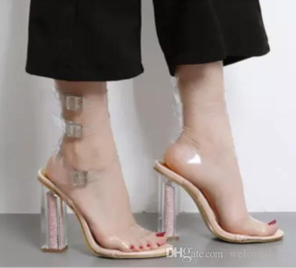 2017 мода женщины blingbling обувь открыть toe сандалии лодыжки ремень высокие каблуки блестками пятки Гладиатор сандалии свадебные туфли