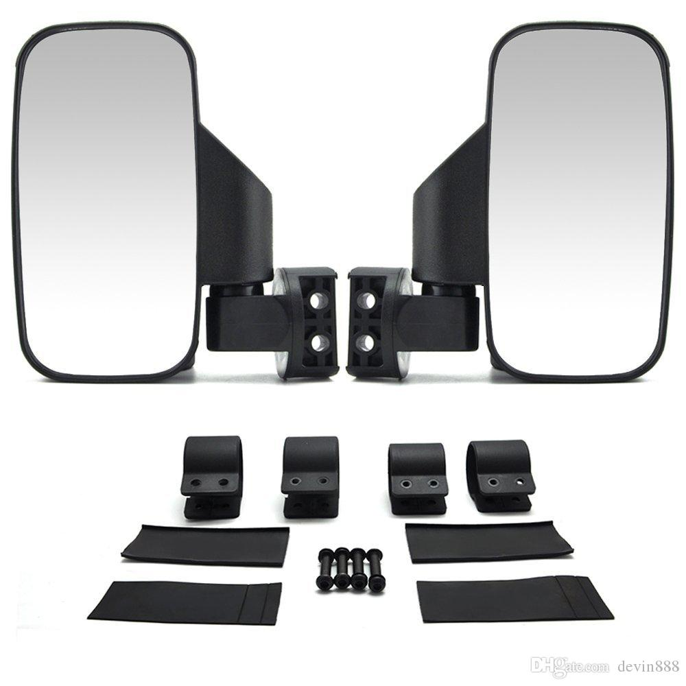 Utv Rear View Mirror >> Set Of 2 Utv Side View Mirror For 1 5 2 Roll Cage Tempered Glass