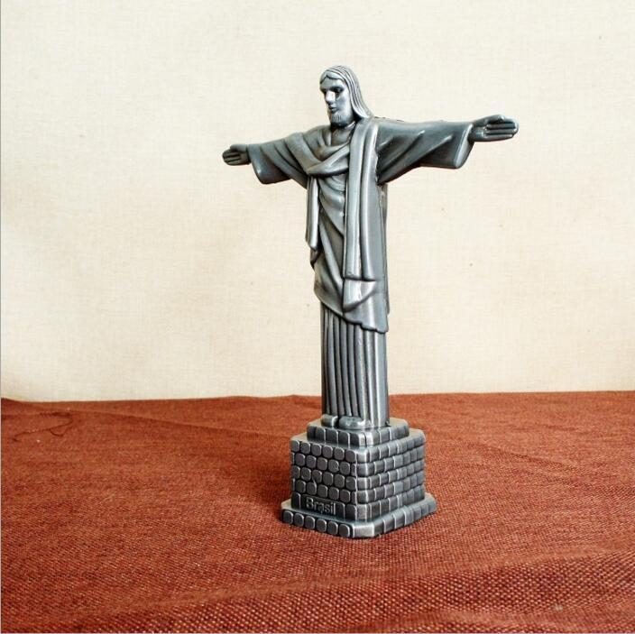 جديد المعادن الحرف المسيحي تمثال يسوع الفنون والحرف المسيحية هدايا شخصية يسوع نموذج 17 * 7 * 21CM DHL
