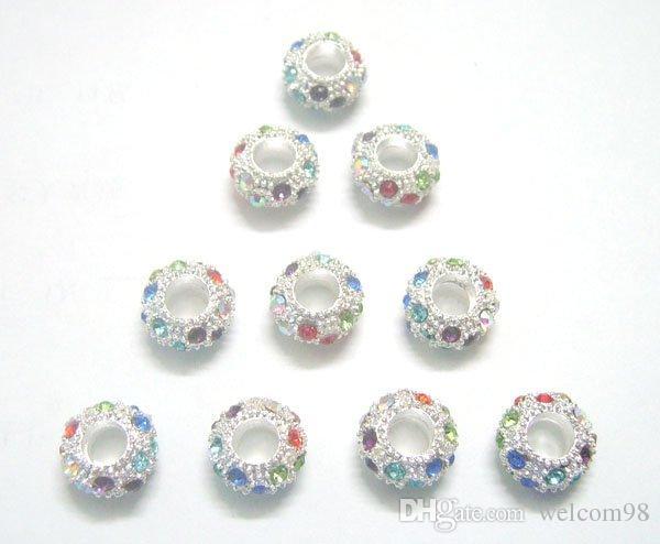 30st / silverpläterad europeisk kristall legering lösa pärlor för DIY armband halsband smycken gåva c28