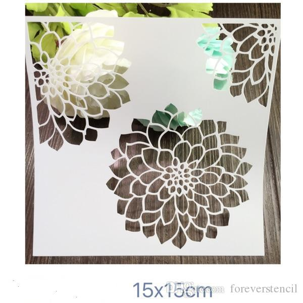 Drawing Reusable Stencils Printing Designs Kit Of Flowers Masking