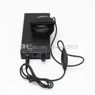 Cambiador de voz de teléfono Disfrazador profesional Transformador de teléfono Cambiador de voz Televoicer de mano Cambiar los gadgets de voz Negro en la caja de venta al por menor
