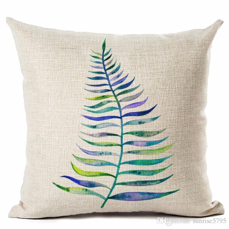 orman bitki örtüsü yastık yeşil yaprak cojines dekoratif orman kanepe sandalye için almofada kapalı açık atış yastık kılıfı Frond
