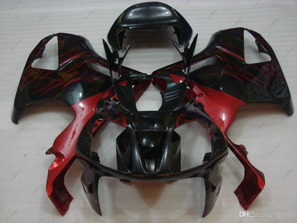 ABS Fairing VTR1000F SP1 01 02 Body Kits for Honda VTR1000 RR 03 04 Black Red Flame Plastic Fairings RC51 SP1 SP2 06 05 2000 - 2006